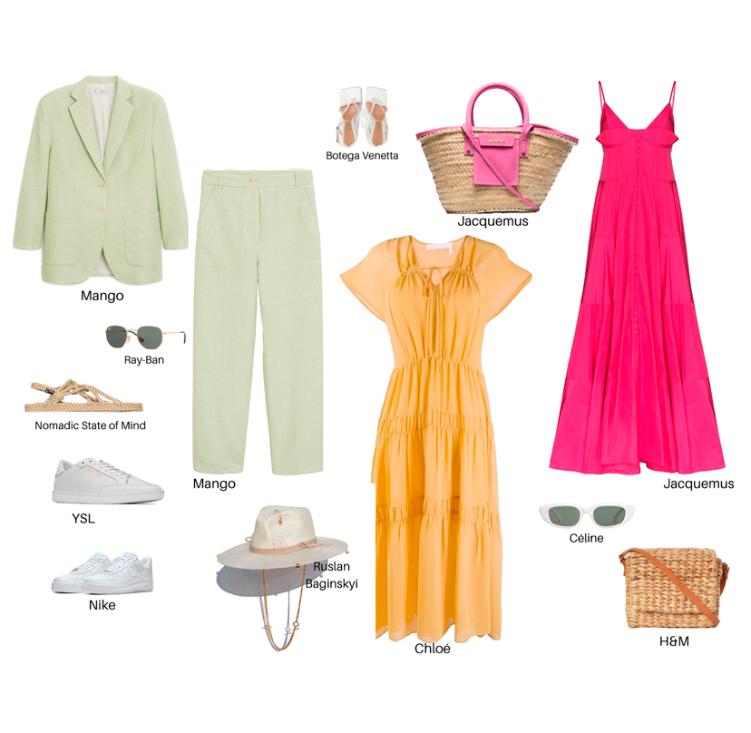 The travel wardrobe. Packing list